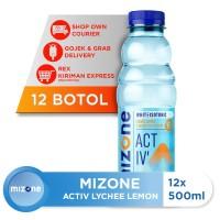 Mizone Isotonik Bernutrisi Activ Lychee Lemon 500ml (12 botol)