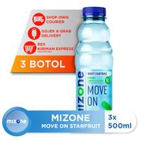 Mizone Isotonik Bernutrisi Move On Starfruit 500ml (3 botol) [P]