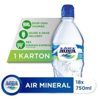 AQUA Air Mineral Click n Go 750ml (18 botol)