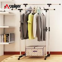 Stand hanger SNAGER dua sisi murah Gantungan Baju serbaguna Praktis
