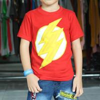 kaos distro anak terbaru   flash red   kaos anak murah   kaos diskon