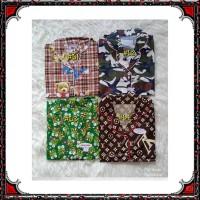 Piyama dewasa CP L/XL celana panjang baju pendek, katun jepang,motif