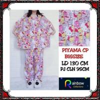 Piyama dewasa CP BIGSIZE,celana panjang baju pendek, FIT TO XXXL,motif