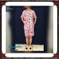 Piyama dewasa HP FIT XL, celana pendek baju pendek, katun jepang,