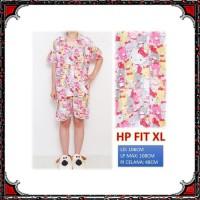 Piyama dewasa HP FIT XL, katun jepang, motif HELLO KITTY FULL