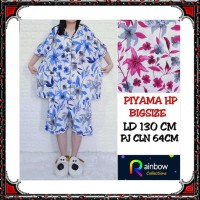 Piyama dewasa HP BIG SIZE katun jepang, motif BELLE FLOWER