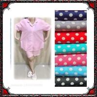 Piyama dewasa HP FIT XL, celana pdk baju pendek, katun jepang, fit to