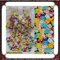 Piyama CP celana panjang baju pendek, katun jepang, fit to XL, motif