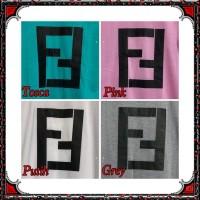 DRESS FENDI/FF DRESS WANITA KEKINIAN BHN BABYTERY FIT L PANJANG