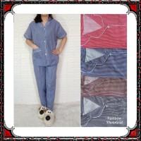 Piyama dewasa CP XL celana pj baju pendek, katun jepang, fit to xl,