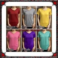 SIZE M - V-NECK Pendek /Kaos Polos Basic / t-shirt / Atasan Pakaian