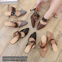 FENDI HIGHHEEL SHOES 7603-138||Sepatu Wanita Cantik|Sepatu Import Mura