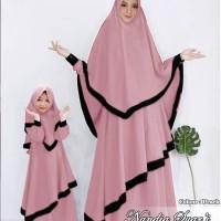 gamis couple ibu dan anak/baju muslim couple/baju sarimbit keluarga