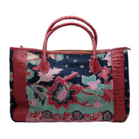 Galeri Soka Tas Satchel Bag Wanita Motif Batik Croco - Merah