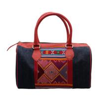Galeri Soka Tas Satchel Bag Wanita Motif Batik Croco - Merah Navy