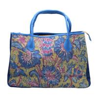 Galeri Soka Tas Satchel Bag Wanita Motif Bunga Batik - Biru