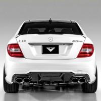 Mercedes Benz W204 Carbon Fiber Rear Bumper Diffuser