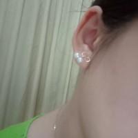 Gold Earrings Pearl