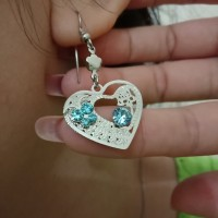 Earrings Love Blue Diamond