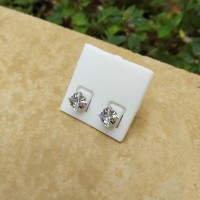 Anting Stud Monel Steel Diamond Kotak Cubic Zirconia