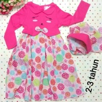 Gamis Anak MI ANGEL Kitty Set JILBAB / Dress Bayi / Rok Muslim Anak