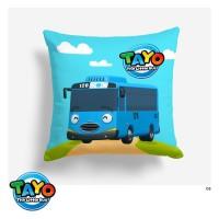 Bantal Kursi Sofa - Tayo The Little Bus Ukuran 40x40 cm