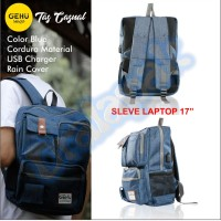 Tas Laptop Ransel Kasual Backpack Gehu GHT05