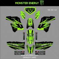 Sticker Striping Motor Stiker Kawasaki Klx 150 Modif Hijau Spec B
