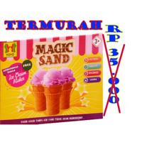 mainan magic sand EC CREAM mainan pasir dua warna