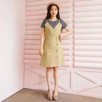Set Inner   Overall - 4 Pilihan Warna Fashion Wanita Impor