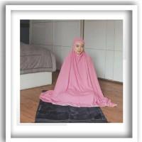 Mukena tazkia cantik plain dusty pink