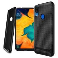 case samsung a20 2019 soft tpu carbon fiber casing cover original
