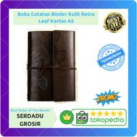Buku Catatan Binder Kulit Retro Leaf Kertas A5 - BSD666 TERMURAH