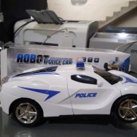 PROMO Mainan remote control polisi jadi robot mainan mobil remot anak