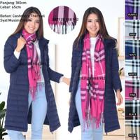 syal musim dingin, baju winter, scarf shawl pashmina , longjhhn winter