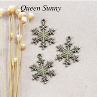 Bandul Kristal Es Charm Snowflake Besar Liontin Pendant Bandul Kalung