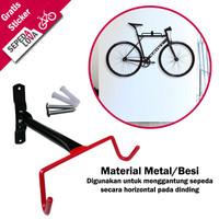 Standar Gantungan Sepeda Dinding Horizontal Bike Wall Hanger Bracket