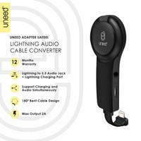UNEED Audio Converter Lightning to Audio Jack 3.5 with iRing - UAT05i