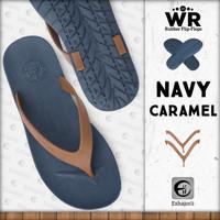 Sandal Jepit Sandal Pria Sandal Flip Flop CAMOU - WR Biru/Karamel