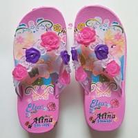 Sandal karet Anak Wanita Sendal Jepit Perempuan Bunga Cewek Cantik