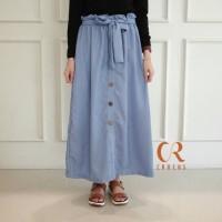 Rok Skirt CS- ROK Button kancing Supernova/ Flare Skirt Wanita