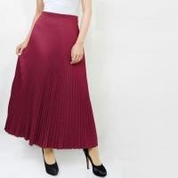 Rok Skirt Bawahan Rok Panjang Wanita - Rok Plisket Mayung / Maxi