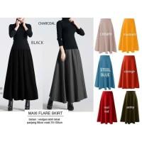 Rok Skirt Maxi Flare Skirt / Pakaian Wanita / Bawahan Wanita /