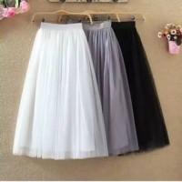 Rok Skirt ROK TUTU MAXY Model High Waist Lipat Bahan Mesh Tulle