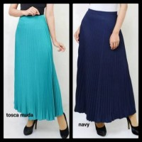 Rok Skirt rok plisket Wanita