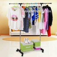 Stand Hanger Single Rak Baju Portable Gantungan Jemuran Pakaian