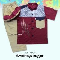 Fattaya Kids Koko Ilham baju muslim anak-anak baju koko anak
