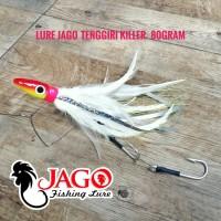 Lure Jig Head Metal Jig bulu ayam JAGO Tenggiri Killer 80gram