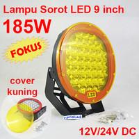 Harga lampu sorot led 185w cover kuning offroad work light mobil kapal | antitipu.com