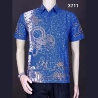 Harga model baju koko terbaru lebaran pria kombinasi batik | antitipu.com